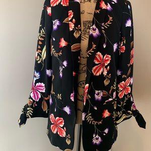 Express floral print blazer
